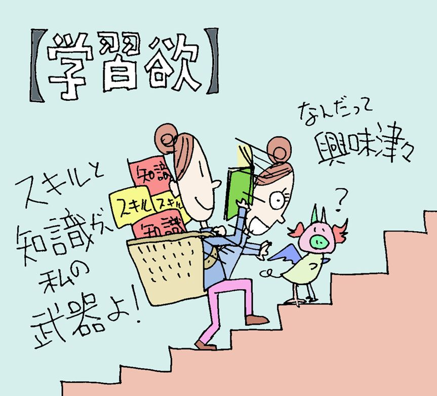 【学習欲】の性格(キャラクター)・イラスト(ココナラ toriho)